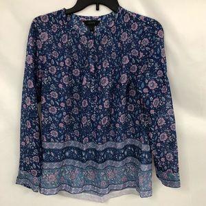 J Crew Blue Peasant blouse 4
